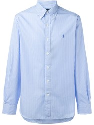 Polo Ralph Lauren Button Down Striped Shirt Blue