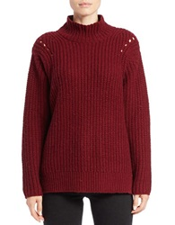 Lord And Taylor Mock Turtleneck Sweater Cabernet