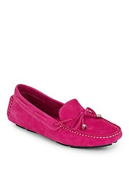 Saks Fifth Avenue Nubuck Leather Driver Moccasins Pink