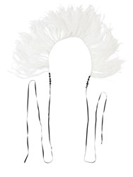Ann Demeulemeester Feather Boa Necklace White