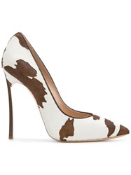 Casadei Blade Pumps White