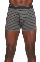 The Rail Stripe Boxer Briefs Grey Black