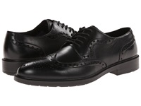Hush Puppies Issac Banker Black Wp Leather Men's Lace Up Wing Tip Shoes