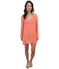 Athena Finesse Solids Tunic Cover Up Coral Women's Swimwear