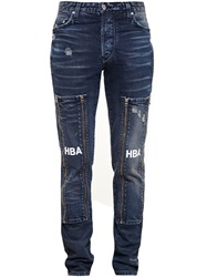 Hood By Air Zip Patch Jeans Blue
