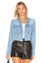 Bella Dahl Cropped Military Jacket Blue