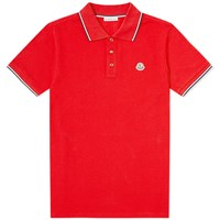 Moncler Classic Logo Polo Red