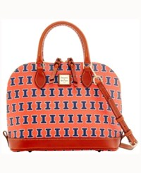 Dooney And Bourke Illinois Fighting Illini Zip Zip Satchel Orange