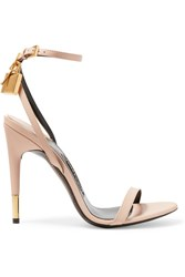 Tom Ford Leather Sandals Beige