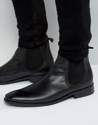 Base London Cheshire Leather Chelsea Boots Black