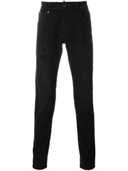 Philipp Plein 'Runway' Super Straight Leg Jeans Black