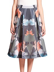 Nicholas Floral Mesh Ball Skirt Lyred Floral