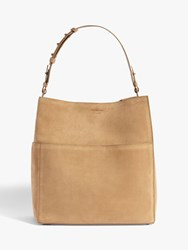 Allsaints Ziggy Leather North South Tote Bag Cappuccino