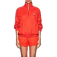 Adidas By Alexander Wang Crinkled Tech Fabric Pullover Jacket Red