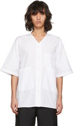3.1 Phillip Lim White Overlap Pocket Shirt