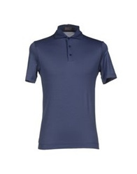 Cruciani Polo Shirts Slate Blue
