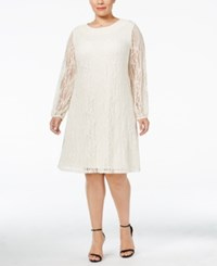 Styleandco. Style Co. Plus Size Lace Peasant Dress Only At Macy's Vintage Cream