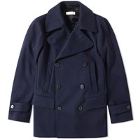 Dries Van Noten Ryan Peacoat Blue