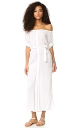 Thayer Babs Maxi Dress White Gauze