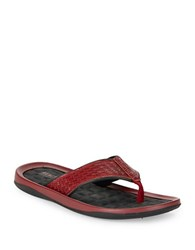 Kenneth Cole Reaction Snake Embossed Sandals Red
