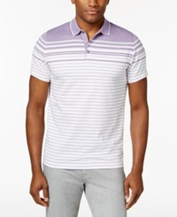 Alfani Men's Engineered Striped Polo Only At Macy's Majesty
