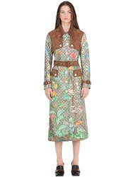 Gucci Gg Printed And Coated Canvas Trench Coat