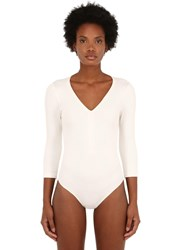 Falke Stretch Cotton Bodysuit Off White