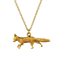 Alex Monroe 22Ct Gold Vermeil The Chase Prowling Fox Pendant