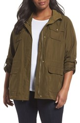 Vince Camuto Plus Size Women's Americana Parka Army