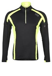 Gore Running Wear Air Long Sleeved Top Black Neon Yellow
