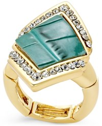 Thalia Sodi Gold Tone Textured Triangle Stretch Ring Only At Macy's