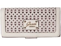 Guess Park Lane File Clutch Cement Clutch Handbags Beige