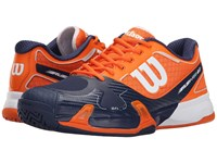 Wilson Rush Pro 2.0 Clementine Navy White Men's Tennis Shoes Blue