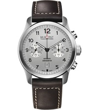 Bremont Alt1csi07 Stainless Steel And Leather Watch