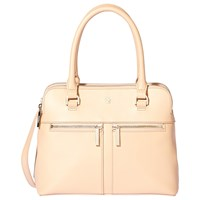 Modalu Pippa Small Leather Grab Bag Peach