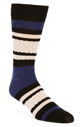 Richer Poorer Men's Provence Crew Socks Navy Cream