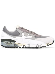 Premiata Stamped Sole Sneakers White