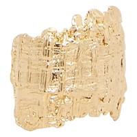 Imai Tweed Ring Goldplated
