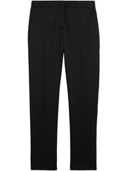 Burberry Straight Fit Wool Tailored Trousers Black