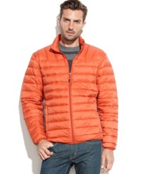 Hawke And Co. Outfitters Packable Down Jacket Princeton Orange