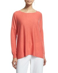 Eileen Fisher Long Sleeve Featherweight Cashmere Box Top Flora Women's