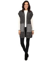B Collection By Bobeau Kori Oversized Sweater Vest Charcoal Grey Women's Vest Gray