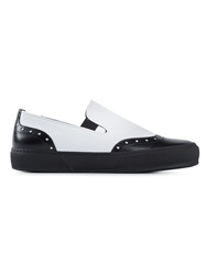 Robert Clergerie Panelled Slip On Sneakers Black