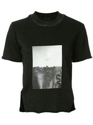 Song For The Mute Front Printed T Shirt Black