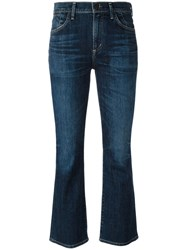Citizens Of Humanity Cropped Flared Jeans Blue