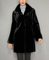 The Fur Vault Mink Reversible Coat Black