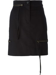 Vivienne Westwood Anglomania Zip Detail Mini Skirt Black