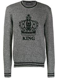 Dolce And Gabbana King Crewneck Sweater Black