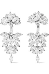 Yeprem 18 Karat White Gold Diamond Earrings One Size