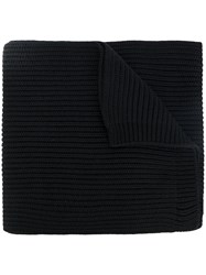 Dsquared2 Ribbed Scarf Men Wool One Size Black
